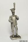 Генерал Кольбер, командир Красных улан - Оловянный солдатик. Чернение. Высота солдатика 54 мм