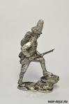 Австрийский гренадер - Оловянный солдатик. Чернение. Высота солдатика 54 мм
