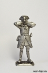 Канонир полковой артиллерии. 1709 г. №2 - Оловянный солдатик. Чернение. Высота солдатика 54 мм