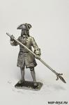 Канонир полковой артиллерии. 1709 г. - Оловянный солдатик. Чернение. Высота солдатика 54 мм