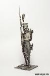 Рядовой гренадер линейной пехоты. Франция 1812 - Оловянный солдатик. Чернение. Высота солдатика 54 мм