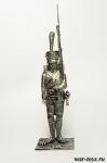 Рядовой Фузилер гренадер Сред. Имп. гвардии. Франция 1812 - Оловянный солдатик. Чернение. Высота солдатика 54 мм