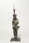 Унтер-офицер гренадер линейной пехоты. Франция 1812 - Оловянный солдатик. Чернение. Высота солдатика 54 мм