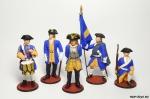 Набор оловянных солдатиков. Шведы