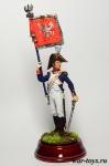 Офицер-орлоносец 6-го пехотного полка. Польша, 1810-14 гг.