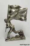 Штурм рейхстага. Знаменная группа. №7 - Оловянный солдатик. Чернение. Высота солдатика 54 мм