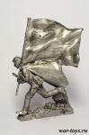 Штурм рейхстага. Знаменная группа. №8 - Оловянный солдатик. Чернение. Высота солдатика 54 мм