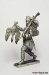 Мародер из французской армии - Оловянный солдатик. Чернение. Высота солдатика 54 мм