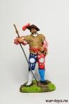 Немецкий Ландскнехт с Эспадоном, 1520 - Оловянный солдатик коллекционная роспись 54 мм. Все оловянные солдатики расписываются художником в ручную