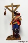 Франсуа Олоне 75 мм - Оловянный солдатик коллекционная роспись 75 мм. Все оловянные солдатики расписываются художником в ручную