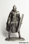 Галльский воин 1 в. н.э. 75 мм - Оловянный солдатик. Чернение. Высота солдатика 75 мм