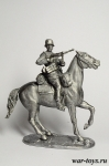 Немецкий всадник - Оловянный солдатик. Чернение. Высота солдатика 54 мм