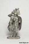 Легионер в походе - Оловянный солдатик. Чернение. Высота солдатика 54 мм
