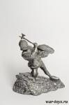 Рыцарь с молотом - Оловянный солдатик. Чернение. Высота солдатика 54 мм
