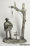 «Человек без имени» Клинт Иствуд - Оловянный солдатик. Чернение. Высота солдатика 54 мм