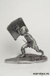 Гладиатор - Оловянный солдатик. Чернение. Высота солдатика 54 мм