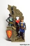 Итальянские Рыцари в Замке, XIV век. - Оловянный солдатик коллекционная роспись 54 мм. Все оловянные солдатики расписываются художником в ручную