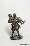 Пират с дамой - Оловянный солдатик. Чернение. Высота солдатика 54 мм