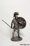 Греческий гоплит - Оловянный солдатик. Чернение. Высота солдатика 54 мм
