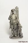 Пограничник - Оловянный солдатик. Чернение. Высота солдатика 54 мм