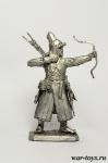 Рядовой башкирского полка, 1812 г. - Оловянный солдатик. Чернение. Высота солдатика 54 мм