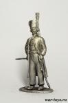 Офицер Чугуевского полка, 1798-1803 гг. - Оловянный солдатик. Чернение. Высота солдатика 54 мм