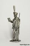 Гренадер пехотного полка, Париж, 1814 г. - Оловянный солдатик. Чернение. Высота солдатика 54 мм