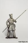 Пеший ратник Рязанского ополчения - Оловянный солдатик. Чернение. Высота солдатика 54 мм