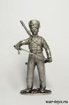 Казак эскадрона Скаржинского, 1812-14 гг. - Оловянный солдатик. Чернение. Высота солдатика 54 мм
