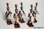 Набор оловянных солдатиков - Музыканты 1812
