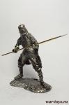 Русский воин с копьем - Оловянный солдатик. Чернение. Высота солдатика 54 мм