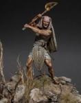 Древнеегипетский пеший воин (Новое Царство), XV-XIII века до н.э - Оловянный солдатик, белый металл (набор из 12 деталей). Размер 54 мм (1:30).