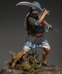 Воин Акали армии Сикхов. Индия, XVIII-XIX века - Оловянный солдатик, белый металл (набор для сборки из 11 деталей). Размер 54 мм (1:30).