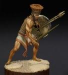 Филистимлянский тяжеловооруженный воин, XIII-XII века до н.э. - Оловянный солдатик, белый металл (набор для сборки из 12 деталей). Размер 54 мм (1:30).