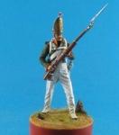 Гренадер Павловского гренадерского полка, Россия 1812-13 - Оловянный солдатик, белый металл (набор для сборки из 11 деталей). Размер 54 мм (1:30).