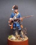 Гренадер пехотных полков, Королевство Сардиния. 1741-47 гг. - Оловянный солдатик, белый металл (набор для сборки из 13 деталей). Размер 54 мм (1:30).