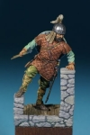 Византийский легковооруженый воин, 10-11 века - Оловянный солдатик, белый металл (набор для сборки из 13 деталей). Размер 54 мм (1:30).