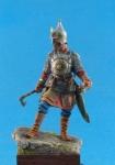 Знатный русский воин (Ермак - покоритель Сибири), XVI век. - Оловянный солдатик, белый металл (набор для сборки из 13 деталей). Размер 54 мм (1:30).