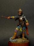 Знатный Мусульманский воин, 16-17 века. - Оловянный солдатик, белый металл (набор для сборки из 13 деталей). Размер 54 мм (1:30).