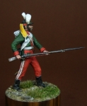 Рядовой гренадерских полков, Россия 1787-96 - Оловянный солдатик, белый металл (набор для сборки из 12 деталей). Размер 54 мм (1:30).