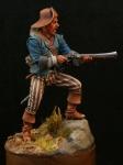 Пират с дробовиком, 18 век - Оловянный солдатик, белый металл (набор для сборки из 11 деталей). Размер 54 мм (1:30).