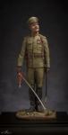 Офицер пехотных полков, Россия 1914-17 гг. - Оловянный солдатик, белый металл (набор для сборки из 8 деталей). Размер 54 мм (1:30).