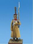 Мушкетер пехотных полков, Россия 1812-15 гг. - Оловянный солдатик, белый металл (набор для сборки из 8 деталей). Размер 54 мм (1:30)