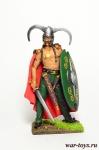 Кельтский вождь I в до н.э. - Оловянный солдатик коллекционная роспись 54 мм. Все оловянные солдатики расписываются художником в ручную