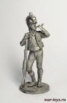 Рядовой Каталонского батальона лёгкой пехоты. Испания, 1807-08 - Оловянный солдатик. Чернение. Высота солдатика 54 мм