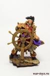 Пират у штурвала, 1865 - Оловянный солдатик коллекционная роспись 54 мм. Все оловянные солдатики расписываются художником в ручную