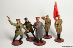 Набор оловянных солдатиков - Великая Отечественная война - Набор оловянных солдатиков 5 шт. Высота солдатиков 54 мм.