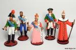 Набор оловянных солдатиков - Правители - Набор оловянных солдатиков 5 шт. Высота солдатиков 54 мм.