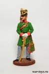 Офицер гусарского полка. Баден, 1812 г. - Оловянный солдатик, роспись 54 мм. Все оловянные солдатики расписываются художником в ручную