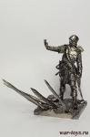 Английский лучник 1346-1356 г - Оловянный солдатик. Чернение. Высота солдатика 54 мм